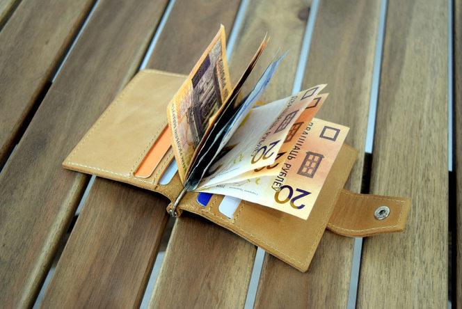 Зажим для мотет, карточек и денег Mini песочного цвета. Купить в Беларуси